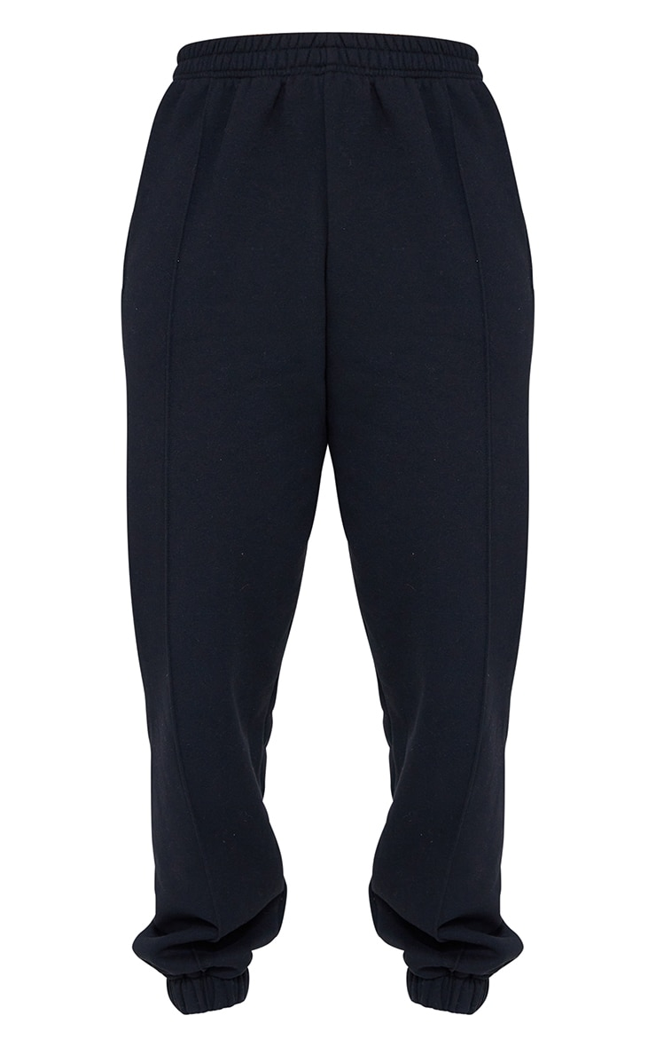 Black Seam Front Cuffed Joggers 5