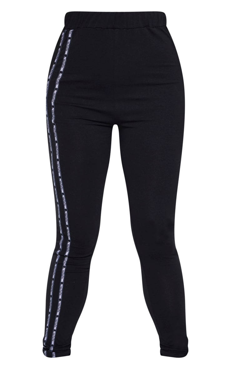 PRETTYLITTLETHING Tall Black Taping Legging  3