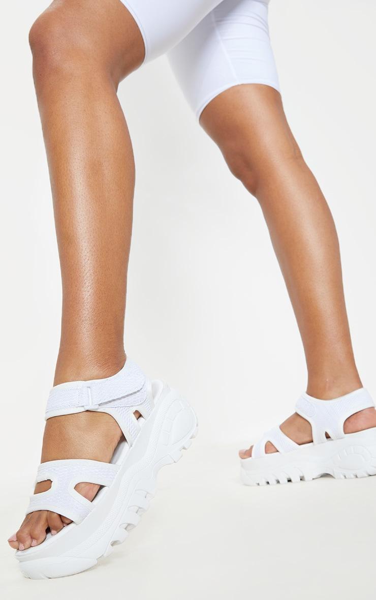 White Sporty Chunky Flatform Sandal