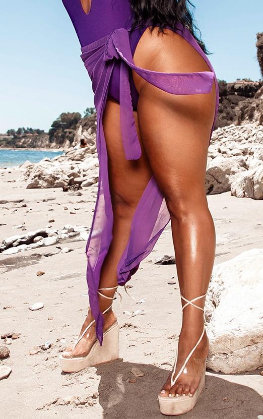 Plus Purple Chiffon Sarong 3