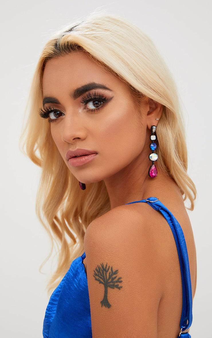 Multi Jewelled Drop Earrings 1