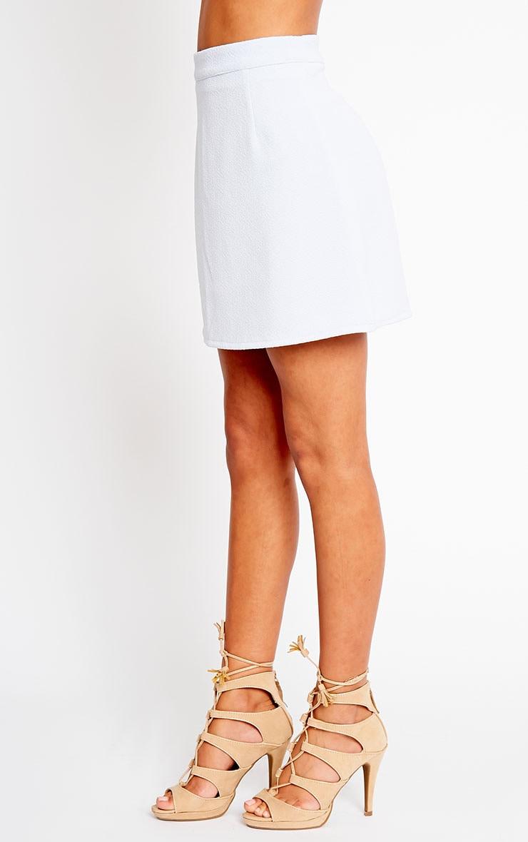 Rori Powder Blue Crepe A Line Mini Skirt 3