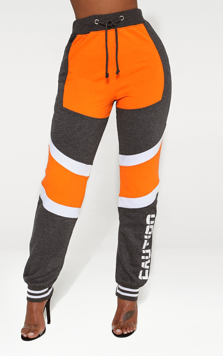 Shape Orange Caution Contrast Joggers 2