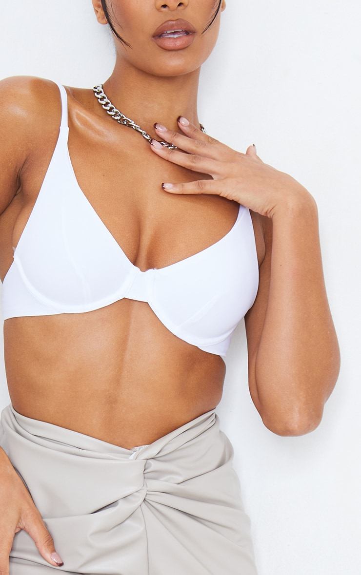 White Mix & Match Underwired Bikini Top 5