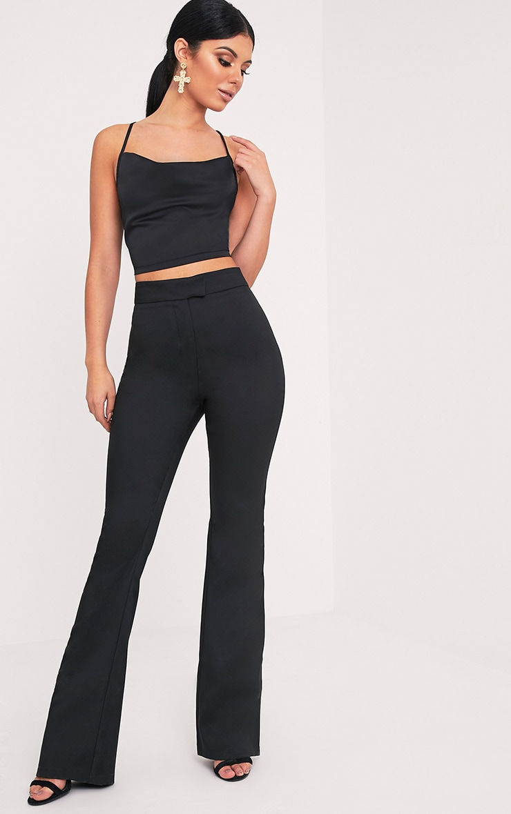 Jessa Black Fit and Flare Trousers 1