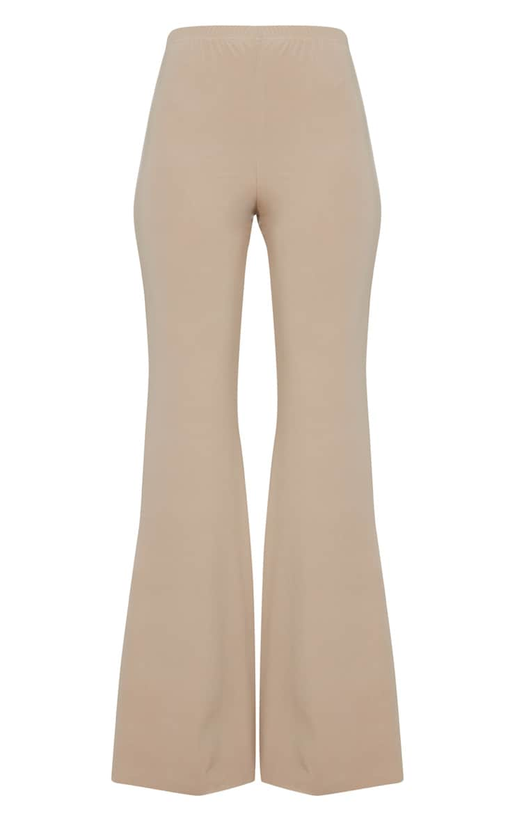 Taupe Slinky Double Layered Flared Trouser 3