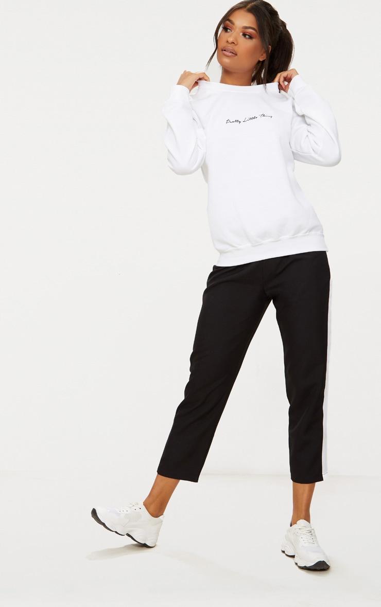 PRETTYLITTLETHING White Embroidered Oversized Sweatshirt 4