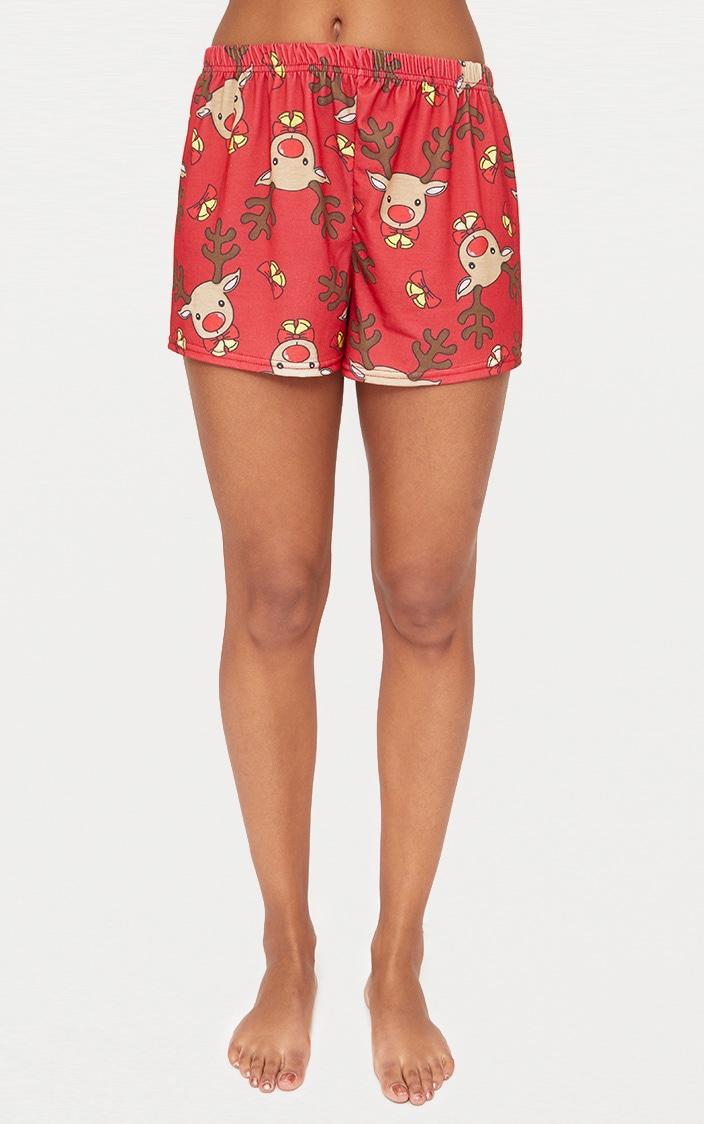 Red Rudolph Short PJ Set  5