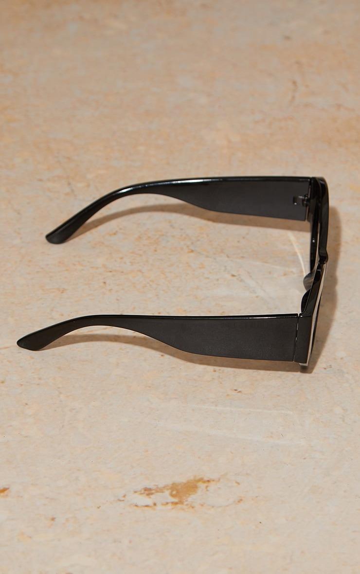 Black Extreme Square Cat Eye Sunglasses 3