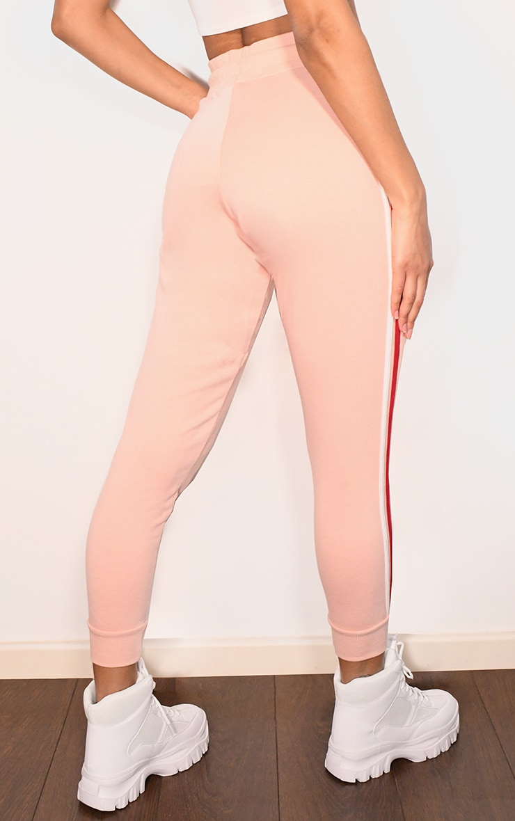 Pink Side Stripe Detail Joggers 3