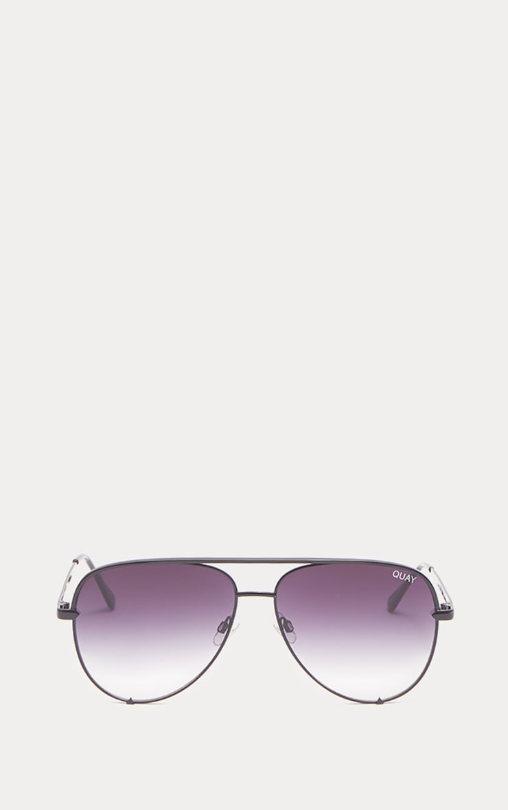 QUAY AUSTRALIA Black X Desi High Key Aviator Sunglasses 2
