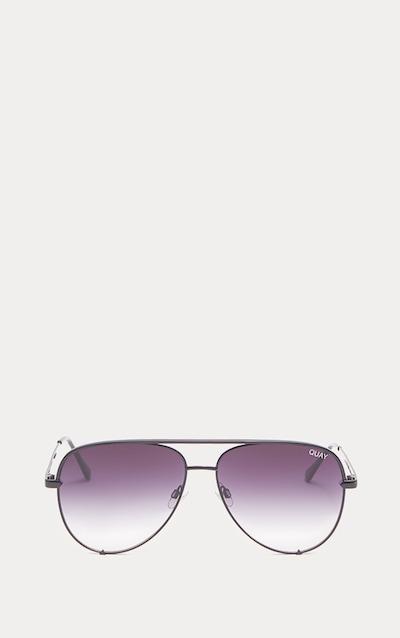 QUAY AUSTRALIA Black X Desi High Key Aviator Sunglasses