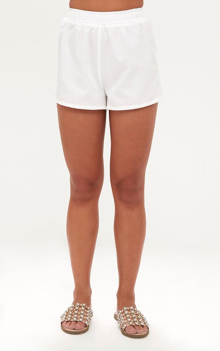 White Beach Shorts  2