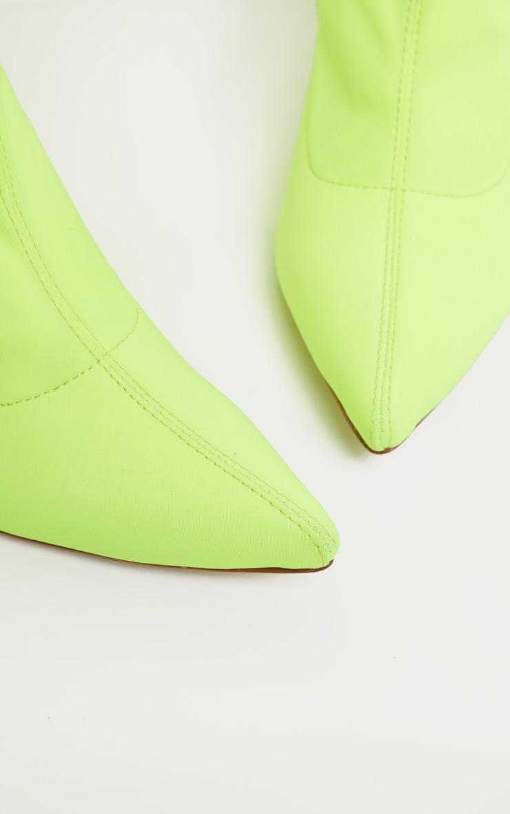 Neon Lime Thigh High Sock Boot 4