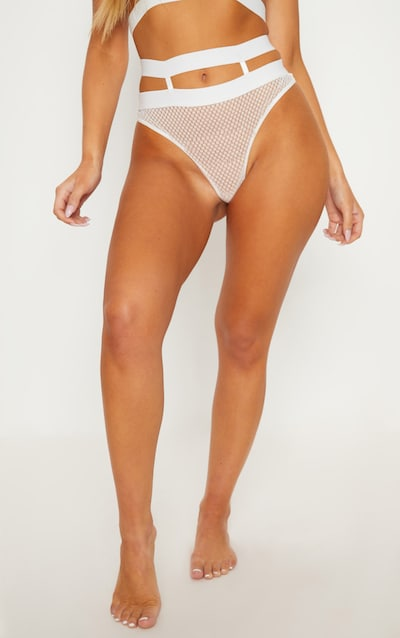 White Delicate Lace Caged Knickers