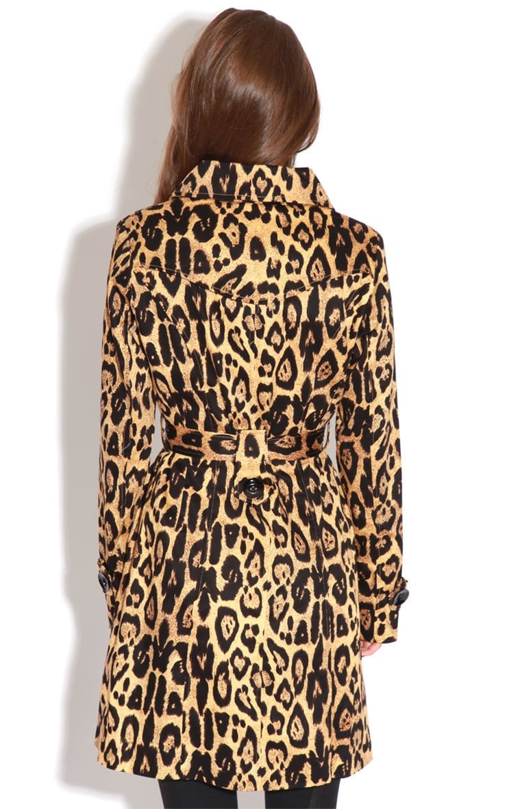 April Leopard Print Trench Coat 2