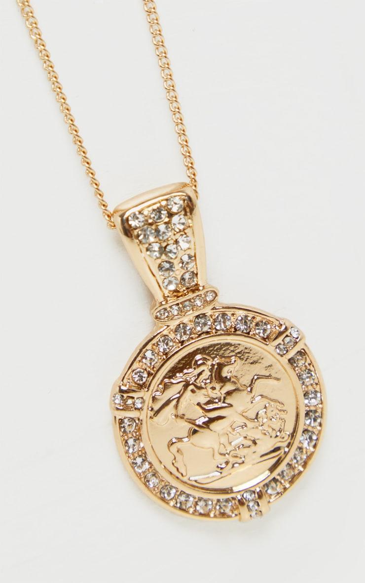 Collier doré à piécette romaine  4