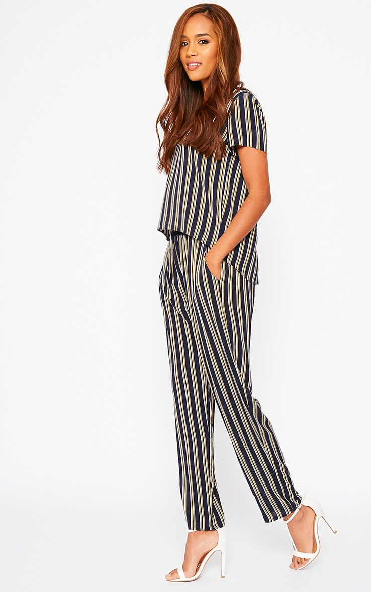 Kali Navy Stripe Trousers 1