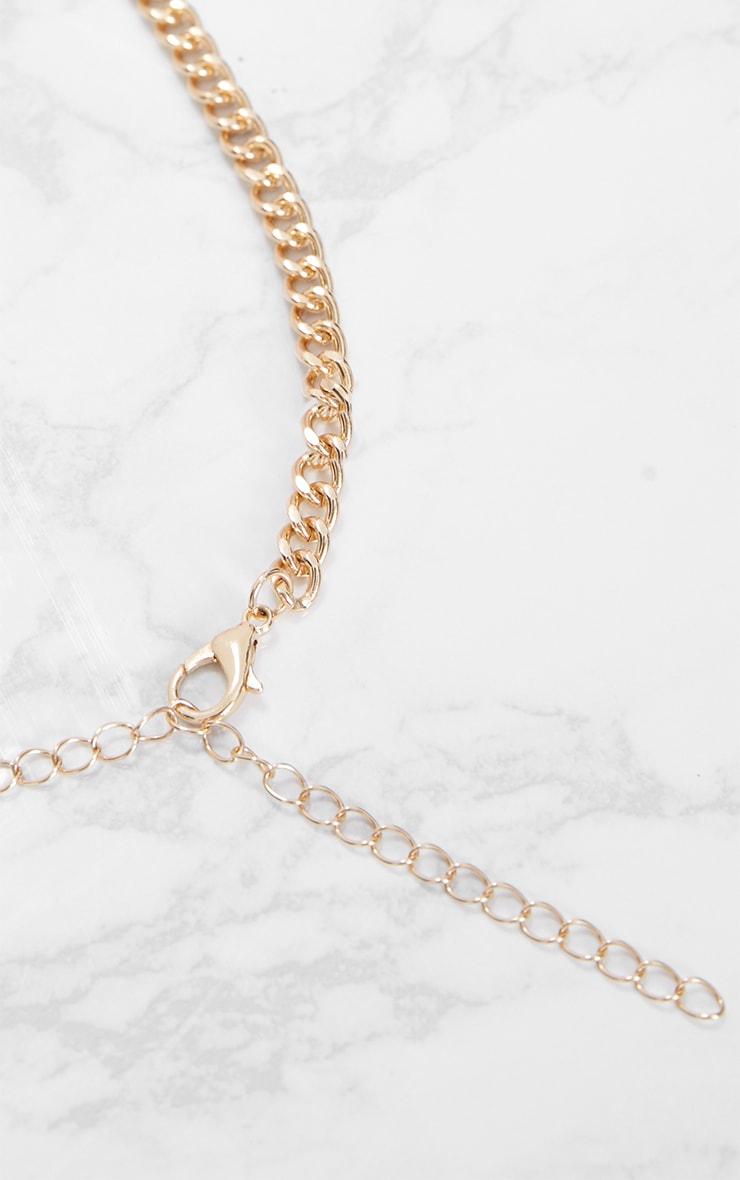 Gold Sundial Pendant Necklace 3