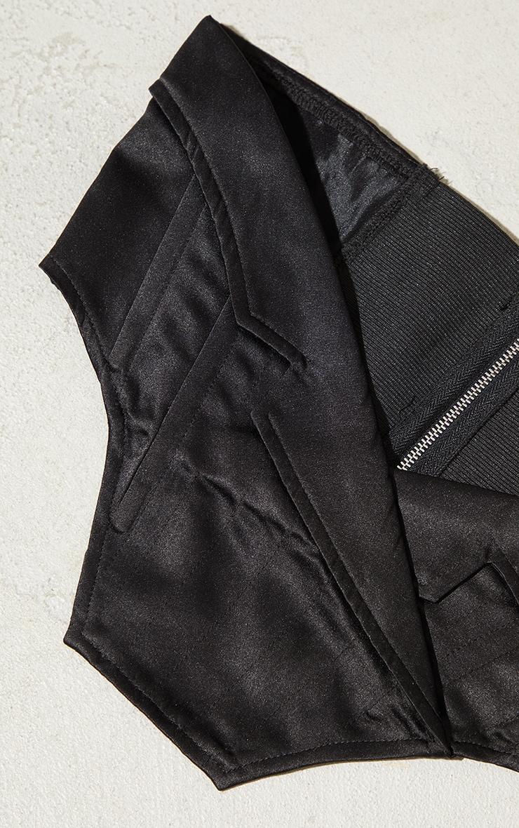 Black Collar Detail Corset Belt 3
