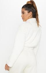 c34c045c4 Cream Borg Oversized Zip Sweater