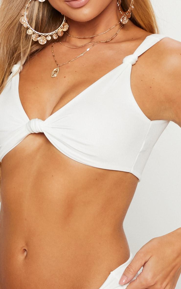 White Knotted Bikini Top 5
