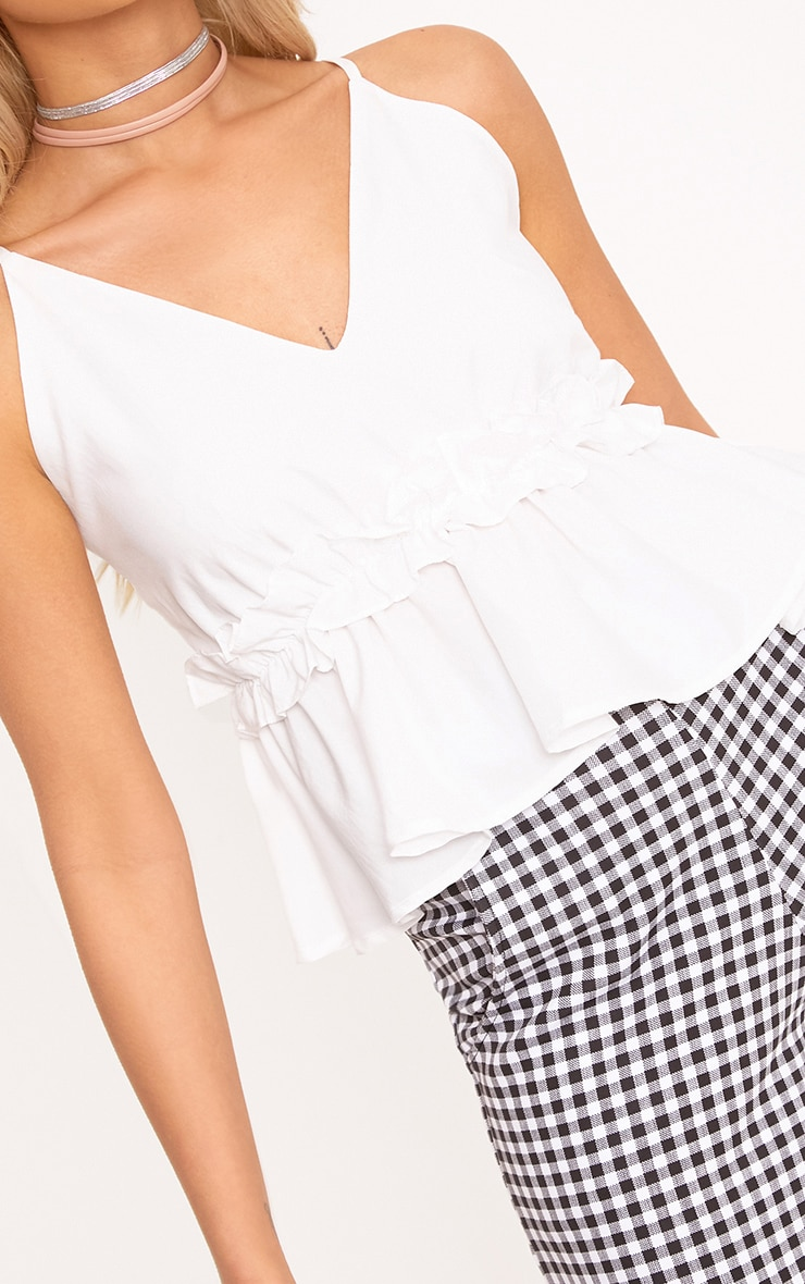 Airelle White Peplum Frill Cami Top 5