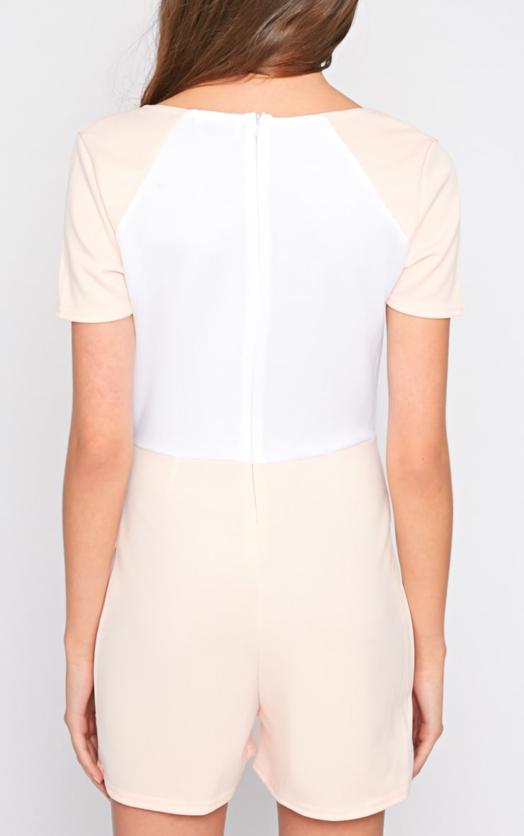 Sandra Nude Colour Block Playsuit 2