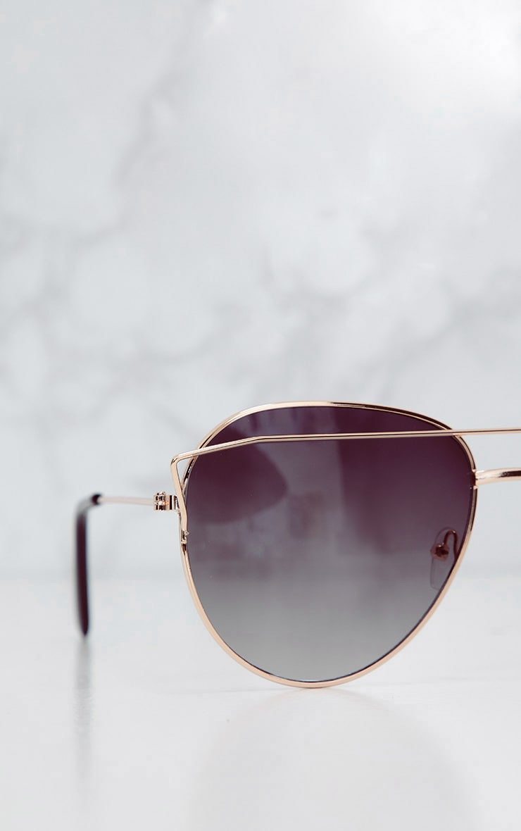 Black Aviator Sunglasses  3