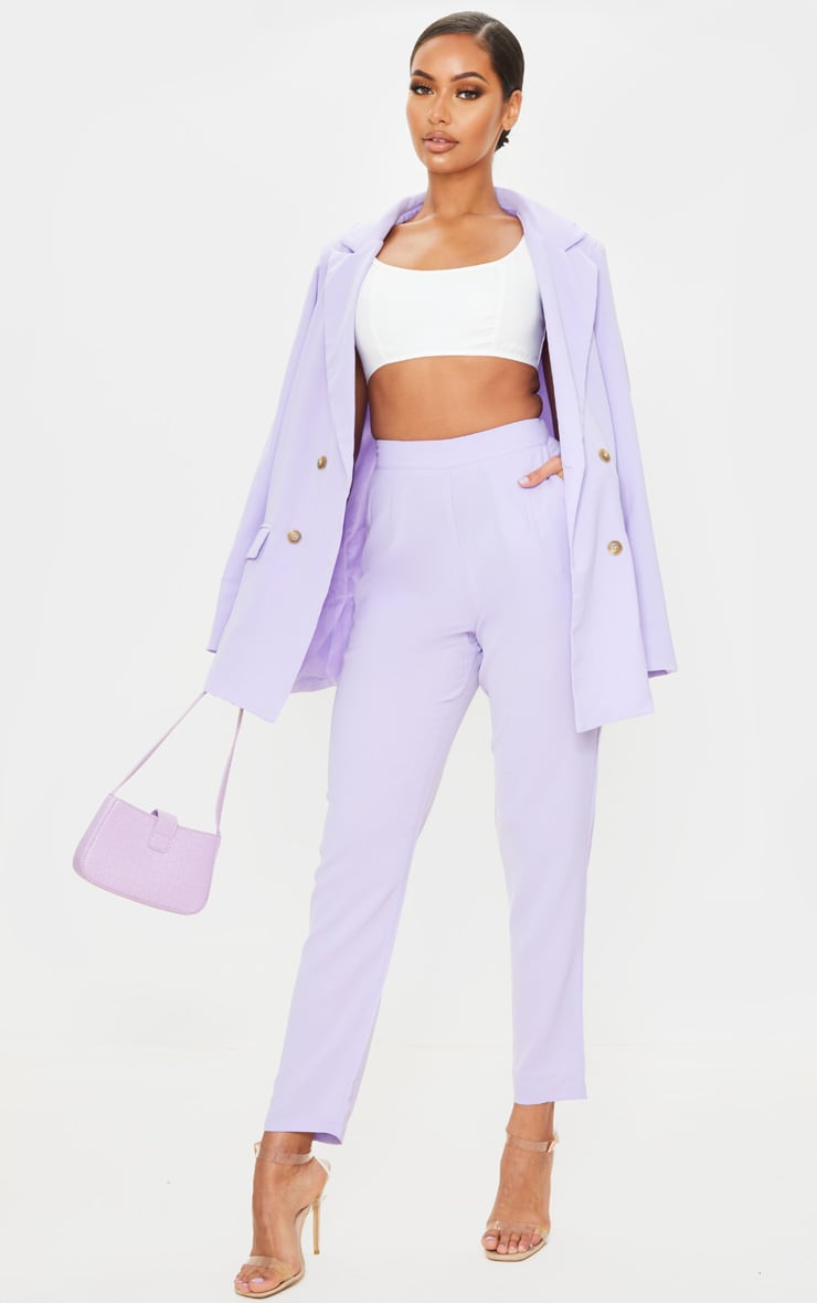 Lilac Tailored Trousers 1
