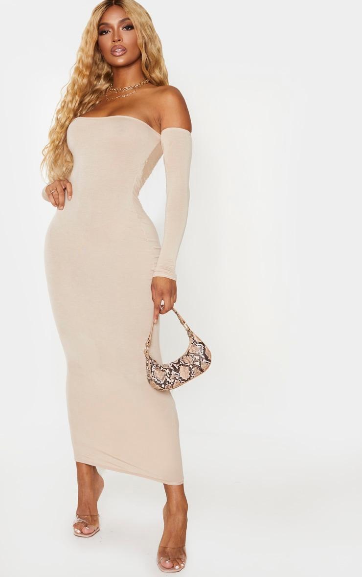 Shape Stone Jersey Bardot Maxi Dress 3