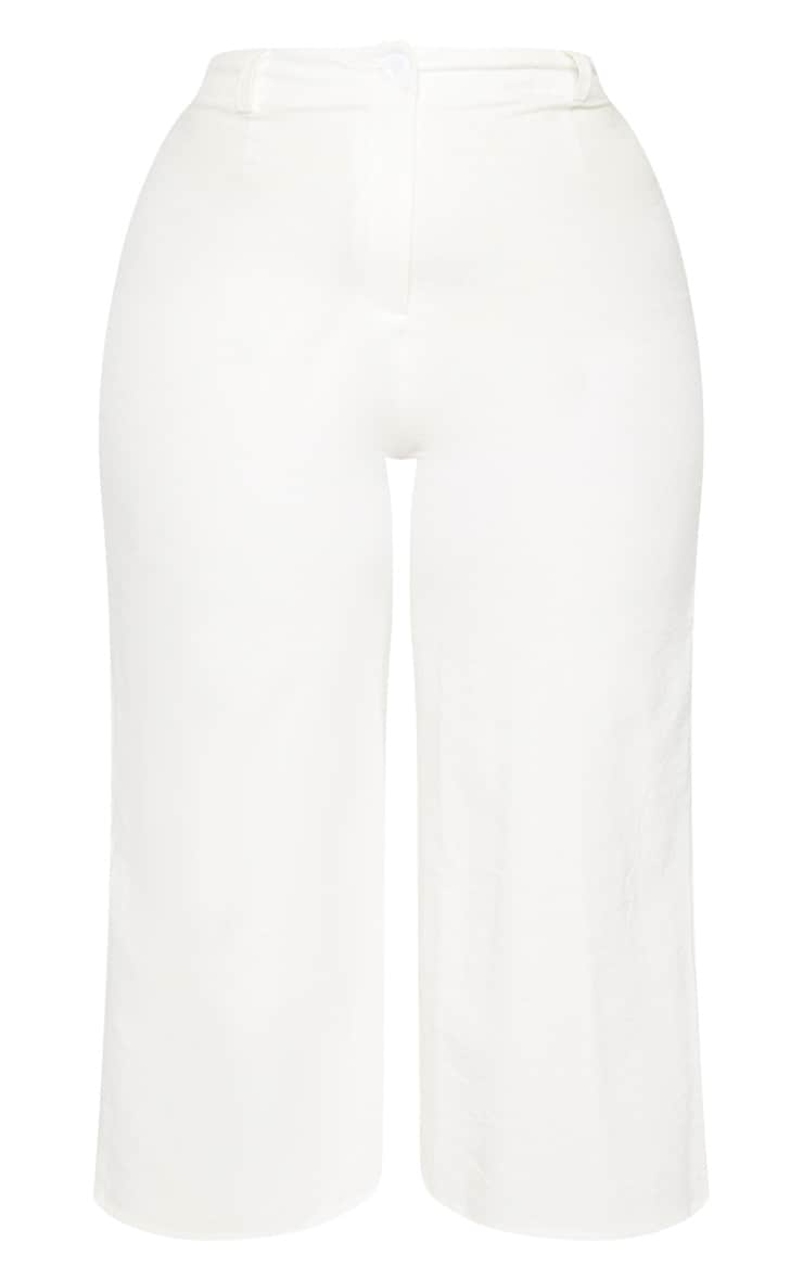 Plus Cream Corduroy Culotte Pants  3