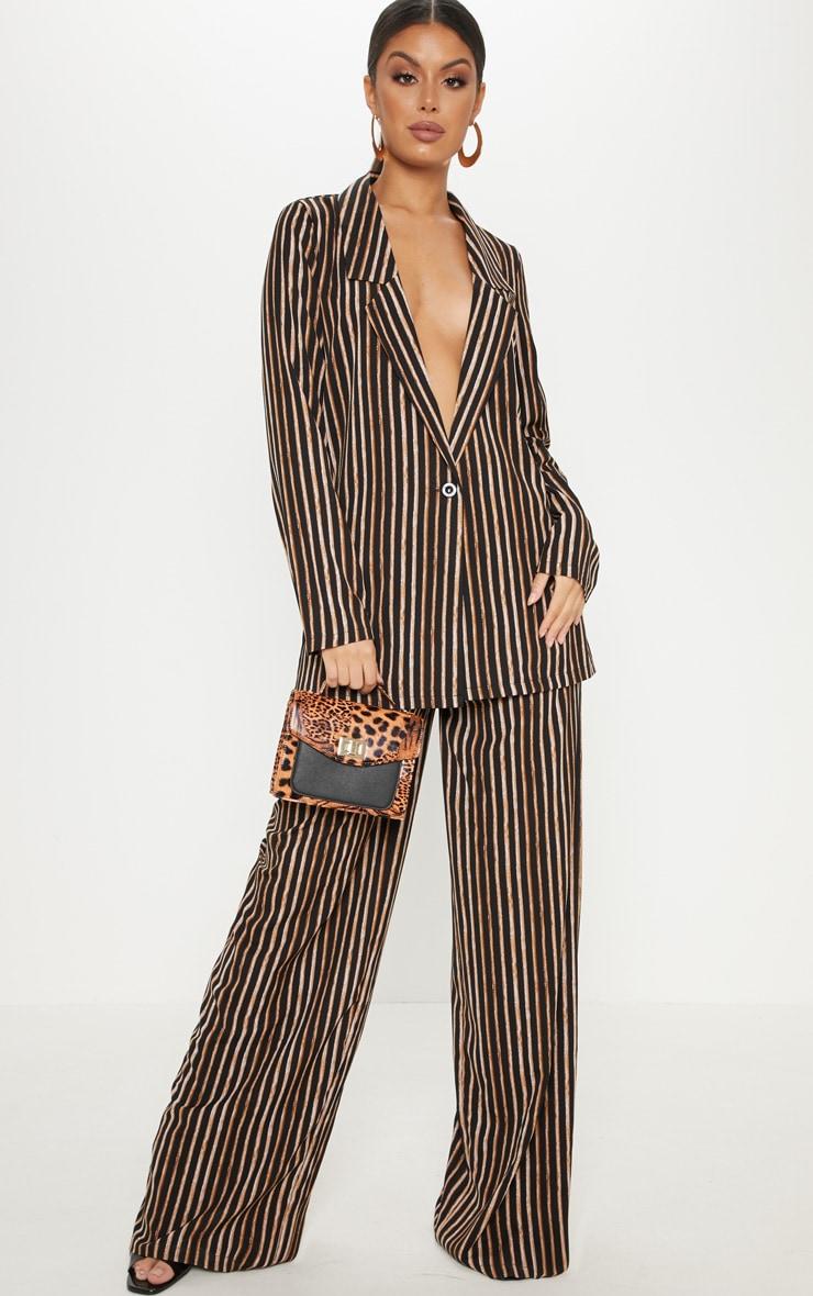 Black Stripe Longline Blazer 4