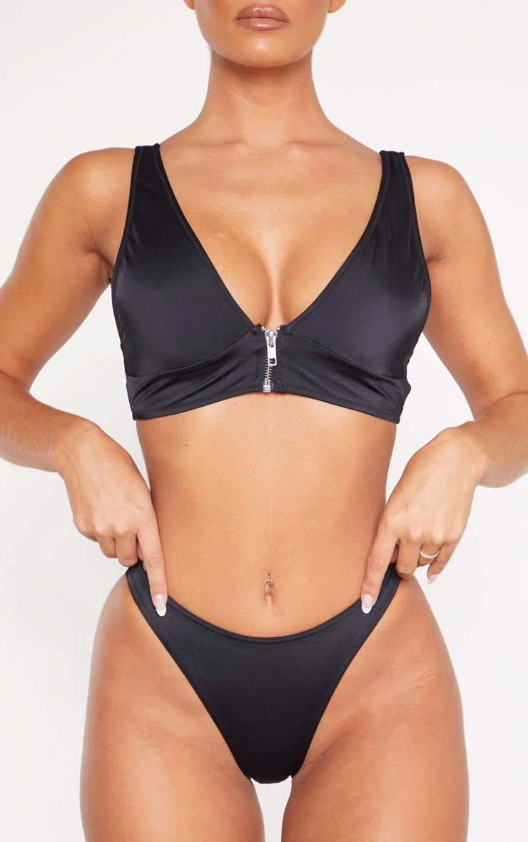 PLT Recycle - Bas de bikini échancré noir Mix & Match 5