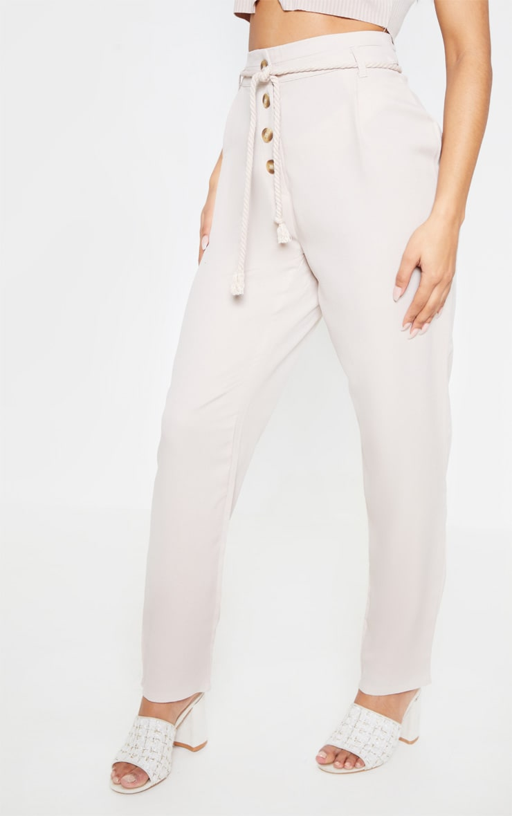 Stone Rope Tie Detail Trouser 2