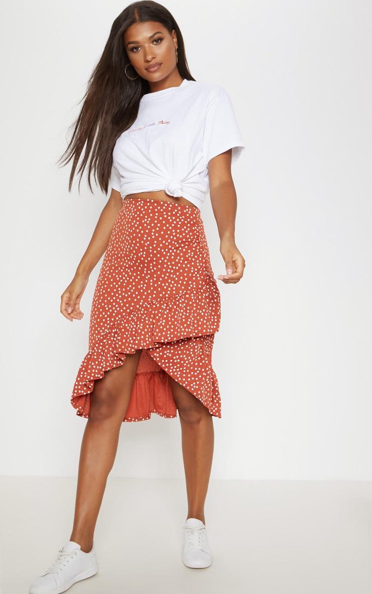 professional design boy on wholesale Spice Polka Dot Frill Midi Skirt