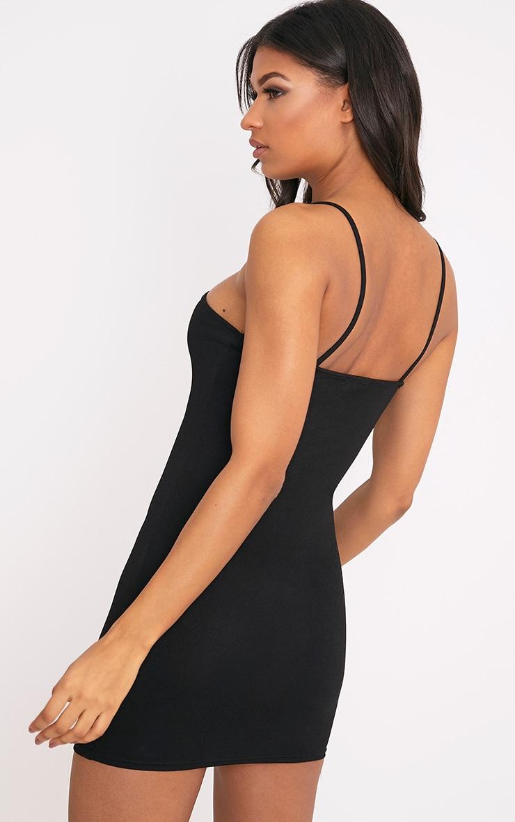 Fern Black Cut Out Detail Bodycon Dress 2