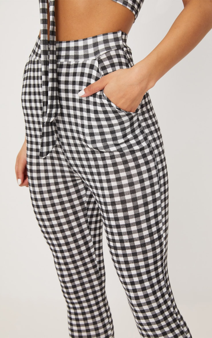 Black Gingham Skinny Pants 5