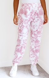 Pink Tie Dye Casual Joggers 2