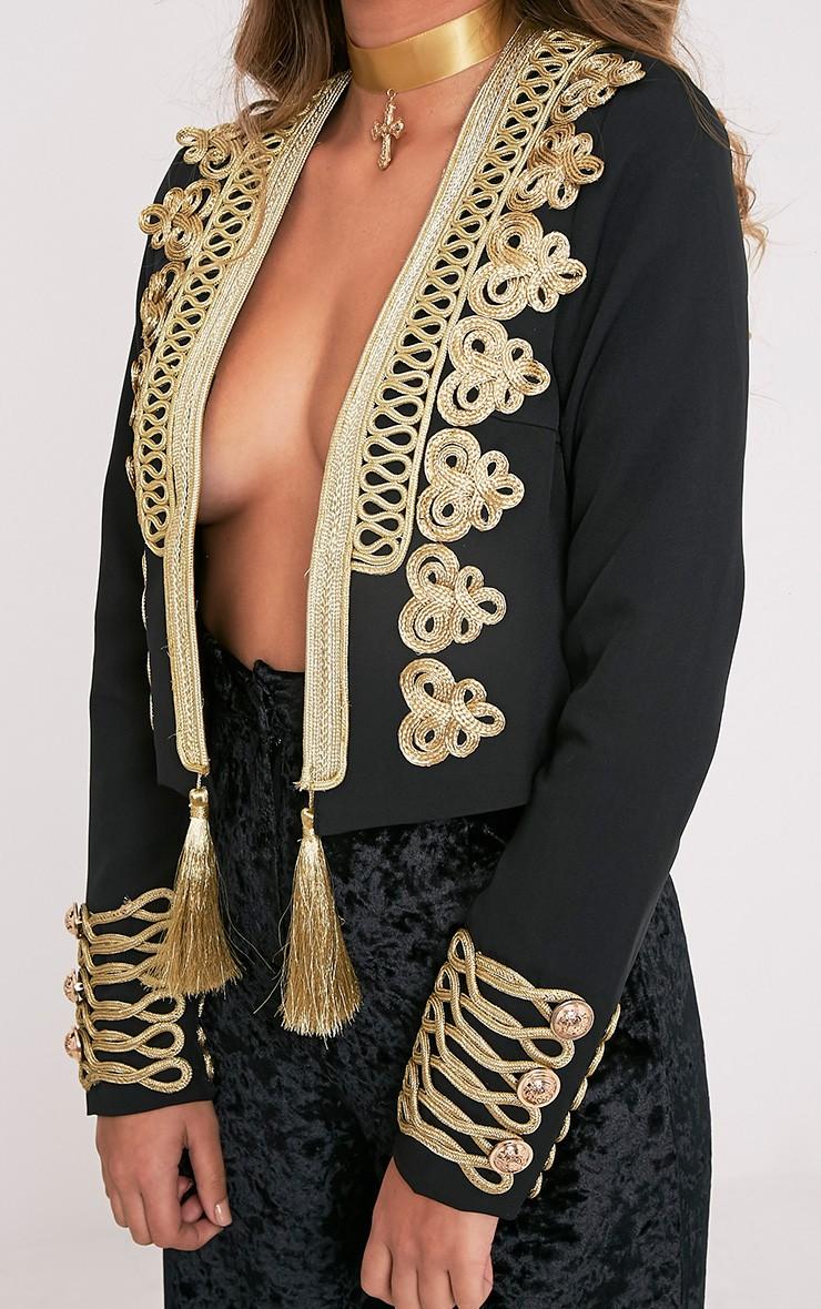 Cecilie Premium veste à ornements courte brodée noire 5