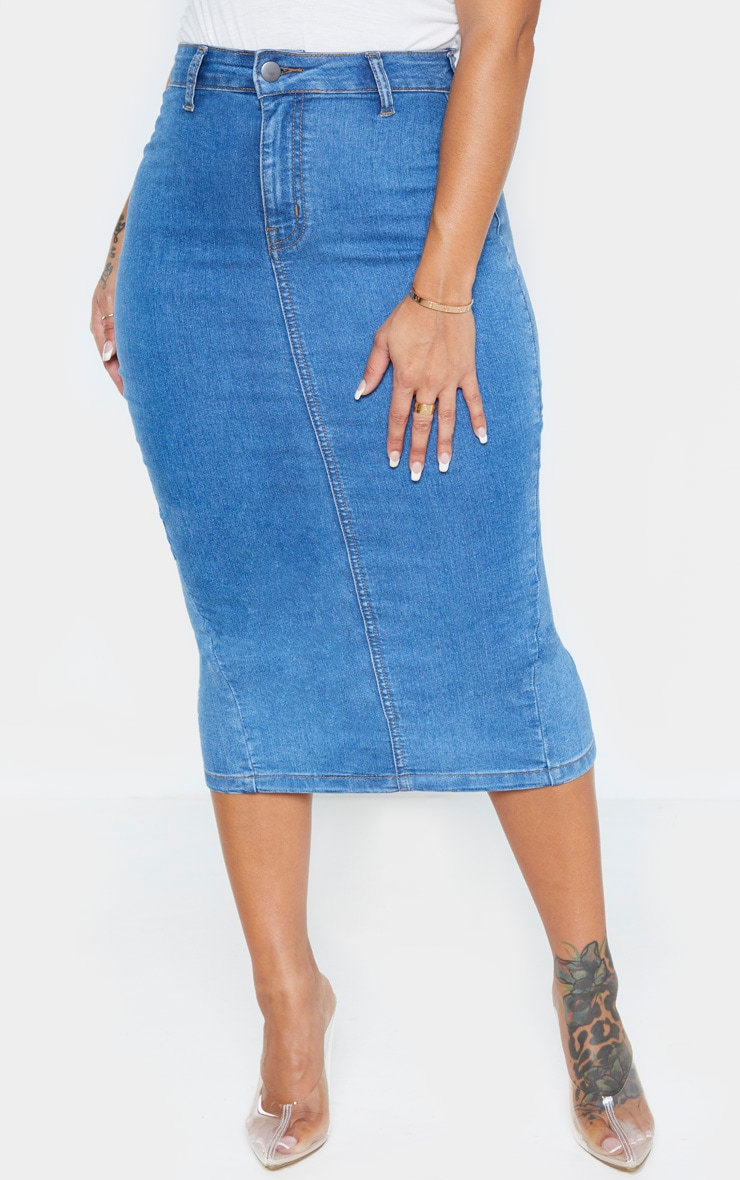 Shape Mid Wash Disco Midi Skirt 2