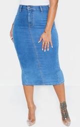 Shape Mid Wash Disco Midi Skirt 2