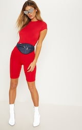 Red Basic Cycle Shorts 5