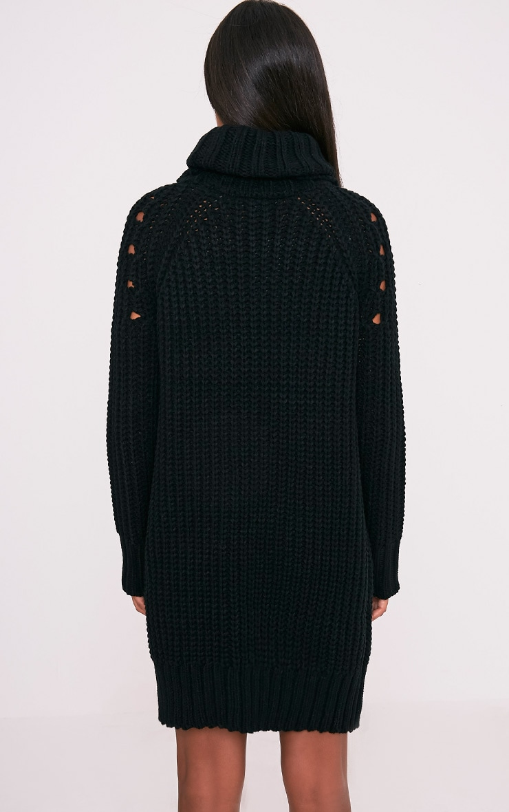 Xael robe surdimensionnée à col roulé extrême noire 2