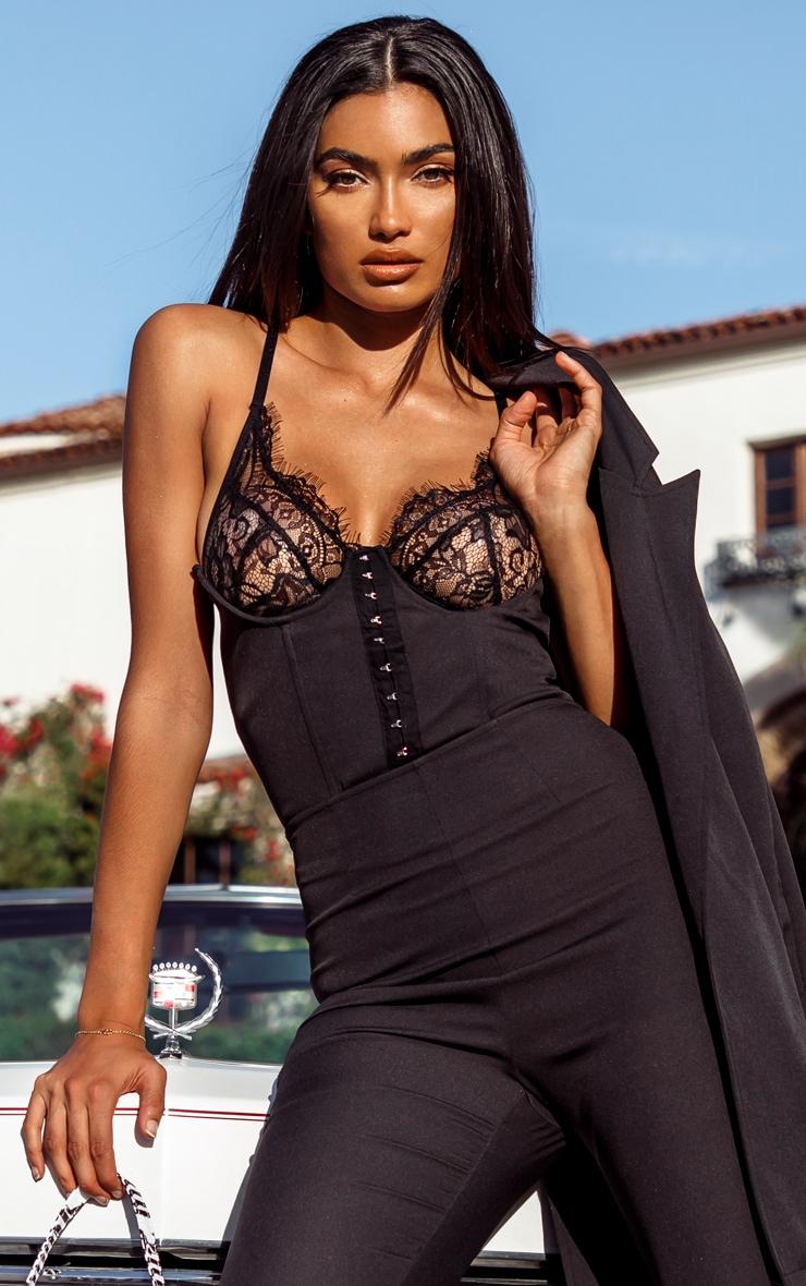 Black Striped Lace Bralette 2