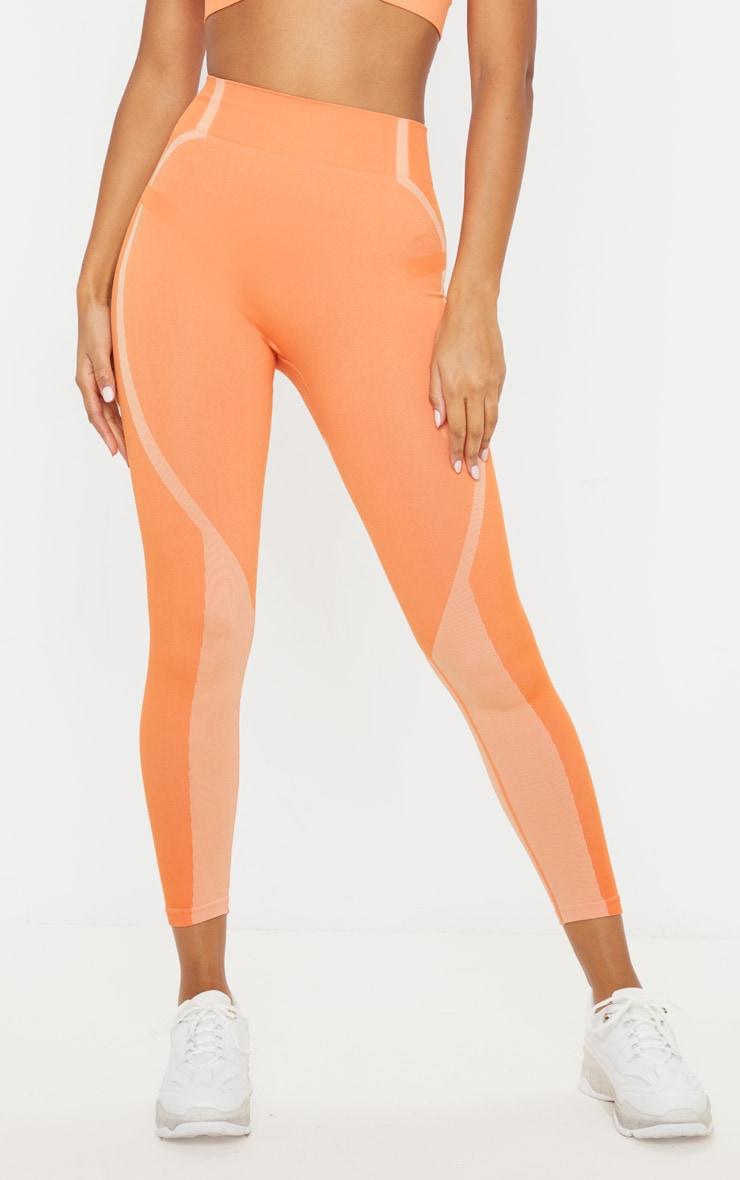Orange Seamless Sports Legging 4