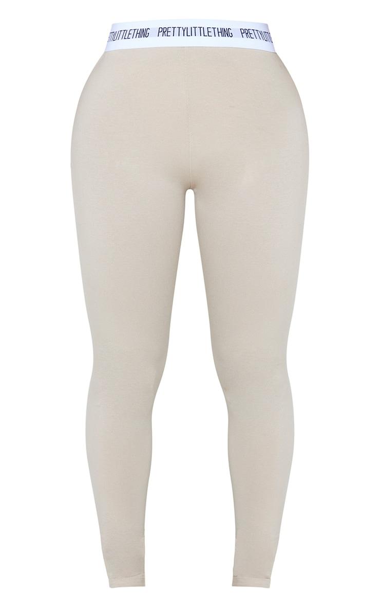 PRETTYLITTLETHING Shape Stone Cotton High Waist Leggings 3