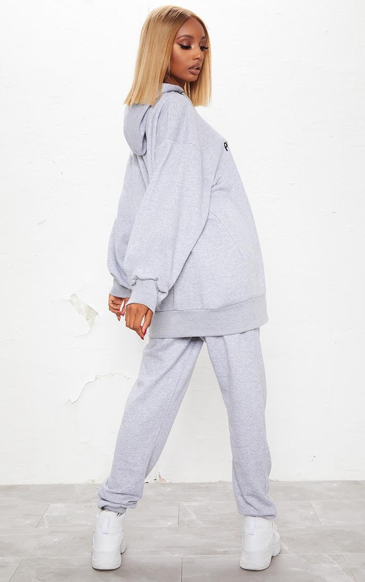 KARL KANI Grey PRETTYLITTLETHING Oversized Hoodie  4