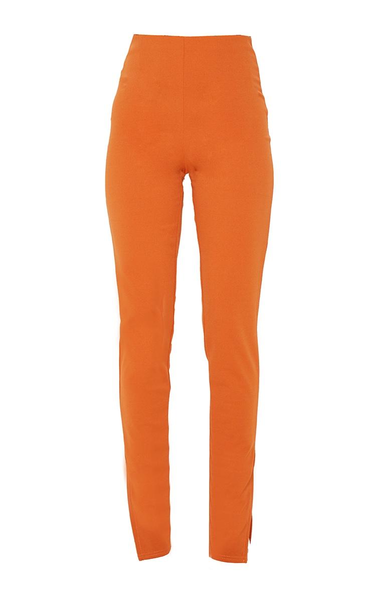 Rust Split Ankle Skinny Trousers 3