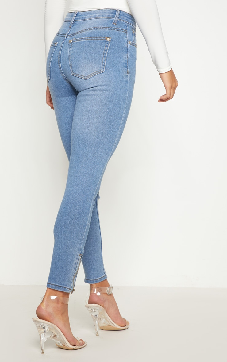 Petite Light Wash Ankle Grazer Skinny Jean 4